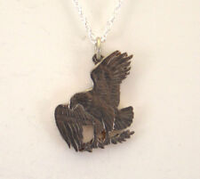 Eagle Landing on the Moon Large, Cut-Out Coin Jewelry, Necklace