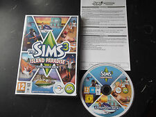 THE SIMS 3 ISLAND PARADISE EXPANSION PACK PC/MAC DVD V.G.C. FAST POST COMPLETE