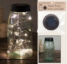 "Beautiful Angel Tears LED 46"" 12 Light String Solar Lid for Regular Mason Jar"