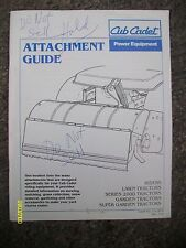Original Rare Vintage 1994? Cub Cadet Attachment Guide Series 2000 Tractors Book