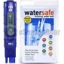 TDS-EZ + WS-425B City, HM Digital ppm Tester + Watersafe Drinking Water Test Kit