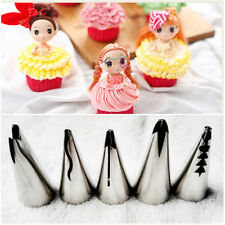 5PCS Mould Russian Icing Piping Nozzles Tips Fondant Dress Cake Decorating ne88