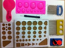 Complete Paper Quilling Tools Kit Set Board Crimper Comb Coach Mould Set of 8