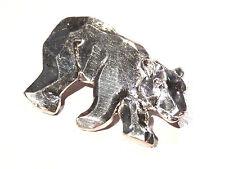 Bijou alliage argenté broche intemporelle ours blanc booch