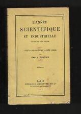 █ L'ANNEE SCIENTIFIQUE et INDUSTRIELLE 1913 57è année █