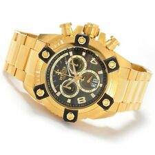 NEW Invicta Reserve Arsenal Octane Swiss Big Date Stainless Steel Gold Tone 0340