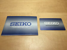 New - Booklet SEIKO - Worldwide Guarantee and Instructions - English & Spanish