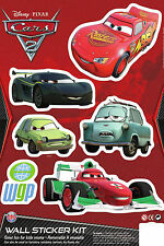 Disney Cars 3 Sheets of Character Wall Room Decoration Sticker Collection Kit