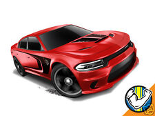 Hot Wheels Cars - '15 Dodge Charger SRT Red