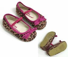 BABY GIRLS SASSY LEOPARD PRINT PARTY PUMPS PRAM SHOES UK SIZE 3 /  9-12 MONTHS