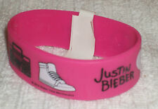 RUBBER WRISTBANDS *** JUSTIN BIEBER *** NEW - 25 cm - COLOUR PURPLE/BLACK