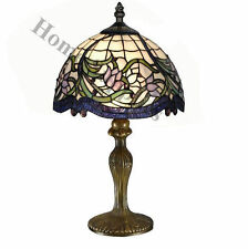 """Wild Vine Tiffany Style Handcrafted Table Lamp 12"""" Shade (IDEAL CHRISTMAS GIFT )"""
