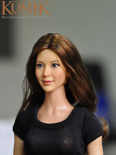 "KUMIK Female Head 1/6 CG CY Girl carving KM13-96 for 12"" figure  model toy"