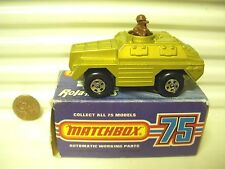 LESNEY MATCHBOX 1973 MB28B GOLD STOAT BLACK Base MINT IN *C3 GOOD BOX*