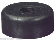 "Pro SOLID RUBBER FEET-SET (4) 1.5"" diam by 5/8 inch tall Penn-Elcom with Screws"