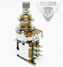 250K DPDT Push-Push Audio Taper Potentiometer Mini Pot - Custom Wiring Projects