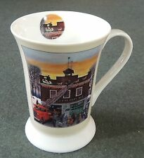 Pimpernel Portmeirion Christmas At The Firehouse Coffee Tea Latte Mug Cup New