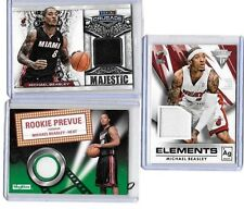 MICHAEL BEASLEY LOT OF (3) DIFFERENT AUTHENTIC GAME USED JERSEY CARDS