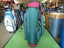 Miller Golf Bags Green/Burgundy Cart Golf Bag w/ Bag Cover (R8249)