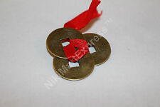 Chinese 3 Ribbon Tied (1x set) Ancient Brass Coins Lucky Feng Shui Protection