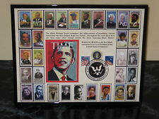 Official President OBAMA 8 1/2 x 11 2009 INAUGURATION Card (Black Heritage)