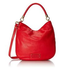 NWT MARC by MARC JACOBS Too Hot To Handle Leather Hobo Bag CAMBRIDGE RED $438+