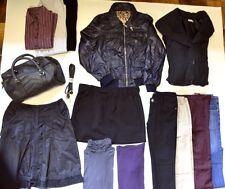 Lot complet : doudoune,veste,pantalons,pulls,chemisiers,jupes et sac - TB état