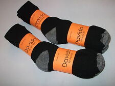 Davido Mens socks crew made in Italy 100% cotton 8 pairs black /gray size 10-13