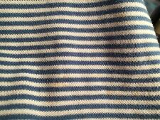 Ralph Lauren Jersey Knit Blue And White Striped Twin Fitted Sheet