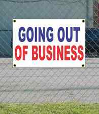 2x3 GOING OUT OF BUSINESS Red White & Blue Banner Sign NEW Discount Size & Price