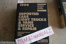 1994 Mitchell Imported Car Light Truck Van Infiniti to Mazda Asia Service Manual