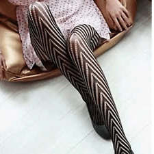 New Sexy Black Women Fishnet Net Pattern Jacquard Pantyhose Tights