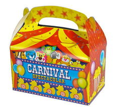 12 CARNIVAL PARTY TREAT BOXES FAVORS GOODY BAGS BAZAAR PRIZE GIFT BASKET CIRCUS