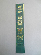 BOOKMARK Leather Colourful BRITISH BUTTERFLIES Red Admiral Peacock Swallowtail