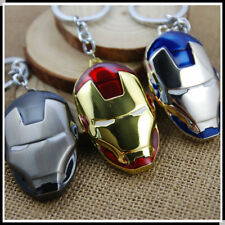 HOT The Avengers Marvel Super Hero Iron Man Mask Metal Keychain Keyring CM