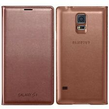 GENUINE SAMSUNG GALAXY S5 WALLET FLIP CASE COVER ROSE GOLD EF-WG900BFEGWW