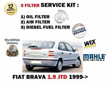 FOR FIAT BRAVA 1.9JTD 12/1999-  SERVICE KIT OIL AIR FUEL  FILTER KIT (3)