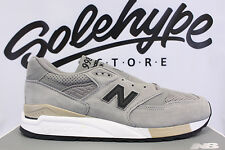 NEW BALANCE 998 MADE IN USA GREY BLACK BEIGE PERFORATED M998DTK SZ 9