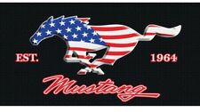 "Ford Mustang Beach Towel 30""X 60""Ford Mustang Est. 1964 USA Flag Stars & Stripes"
