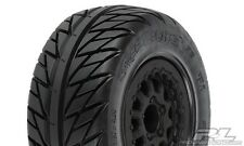 "Proline 116717 Street Fighter SC 2.2""/3.0"" Tires Mounted on Renegade Black Wheel"