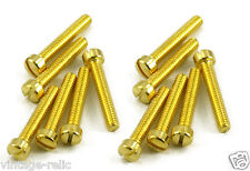 new Humbucker Polepiece Screws fit Gibson PAF pickups GOLD fillister head 12