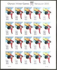 # 4436 2010  Olympic Winter Games MNH Sht(20) V1111  (combined shipping)