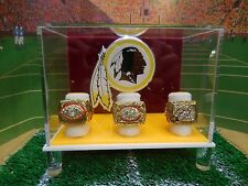 Washington Redskins Super Bowl Championship Ring Set In Custom Display Case