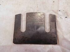 """Iron or Cutter Stanley No. 67 Spoke Shave """"J"""" Trademark & Patent Date (F512)"""