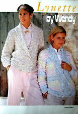 """Wendy Knitting Pattern Booklet - LYNETTE - 12 Designs 30 to 42"""" Bust - VGC"""