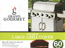 "Grand Gourmet Premium Large Grill Cover 60"" w 20 d 40 h Red & Black NEW"