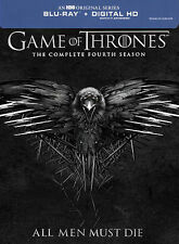 Game of Thrones: The Complete Fourth Season Blu-ray Disc, 2015, 4-Disc Set,...