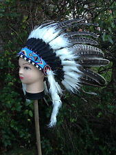 NEW HANDMADE QUALITY RED INDIAN NAVAJO NATIVE AMERICAN HEADDRESS 1
