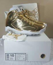 Nike Air Jordan VI 6 Retro Pinnacle Gold Men's 10 Metallic Infared DB Cigar Bred