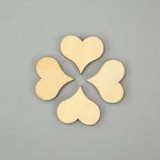 100pcs Mini Wooden Wood Love Heart Shape Painting Craft Cardmaking Scrapbooking